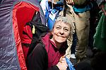 A happy camper. Climate Camp in the City - G20 - London (©Robert vanWaarden)