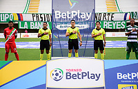 VALLEDUPAR - COLOMBIA, 07-03-2021: Valledupar F. C. y Cortuluá, durante partido de la fecha 10 por el Torneo BetPlay DIMAYOR 2021 en el estadio Armando Maestre Pavajeau de la ciudad de Valledupar. / Valledupar F. C. and Cortulua, during a match of the 10nd for the BetPlay DIMAYOR 2020 Tournament at the Armando Maestre Pavajeau stadium in Valledupar.  city. Photo: VizzorImage. / Adamis Guerra / Contribuidor