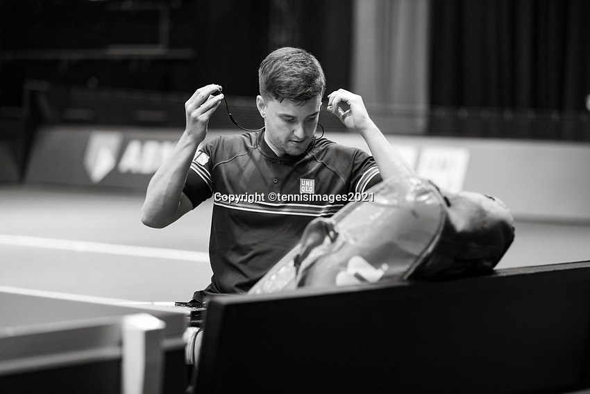 Rotterdam, The Netherlands,7 march  2021, ABNAMRO World Tennis Tournament, Ahoy,  <br /> Wheelchair final: Gordon Reid (GBR) Alfie Hewett (GBR).<br /> Photo: www.tennisimages.com/