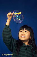 BH22-016x  Bubbles - girl making bubbles