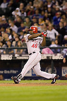 September 24, 2008: Los Angeles Angels of Anaheim's Torii Hunter at-bat during a game against the Seattle Mariners at Safeco Field in Seattle, Washington.