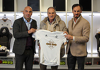Pictured: at the Liberty Stadium Monday 18 January 2016<br /> Re: Swansea have appointed former Udinese manager Francesco Guidolin as their new head coach.<br /> The Italian will work alongside Alan Curtis until the end of the season.<br /> Guidolin, 60, has previously managed several clubs in Italy, including Palermo and Parma, as well as French league side Monaco.