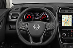 Car pictures of steering wheel view of a 2020 Ssangyong Tivoli Quartz 5 Door SUV Steering Wheel