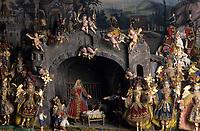 Europe/Autriche/Tyrol/Zirl: Musée du village - Crèche XVIIIème siècle