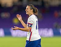 ORLANDO, FL - JANUARY 22: Carli Lloyd #10 of the USWNT celebrates during a game between Colombia and USWNT at Exploria stadium on January 22, 2021 in Orlando, Florida.