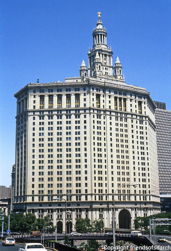 New York: Municipal Building--1914. Skyscraper Historical style. William M. Kendall of McKim Mead & White. Photo '78.