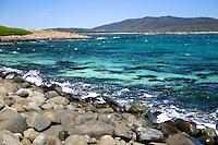 Boulder beach on Brush Island at the New South Wales South Coast and Coastal Island bird surveys