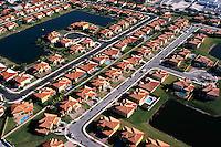 Suburban housing aerial view, Miami, FL