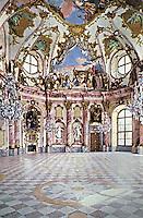 Warzburg Residence designed by Balthasar Neumann. Rococo style. Warzburg, Germany.