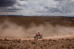 An unidentified quad racer during the 5th stage of the Dakar Rally 2016 in the Bolivian Altiplano.