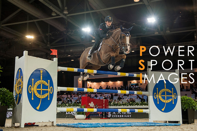 Lorenzo de Luca of Italy riding Halifax van het Kluizebos during the Hong Kong Jockey Club Trophy competition, part of the Longines Masters of Hong Kong on 10 February 2017 at the Asia World Expo in Hong Kong, China. Photo by Marcio Rodrigo Machado / Power Sport Images