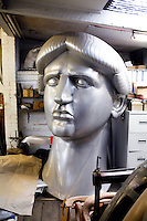 One third scale model of the Statue of Liberty made by Adrian Rice from aluminium.