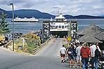Ferry In Puget Sound