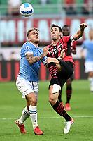 Mg Milano 12/09/2021 - campionato di calcio serie A / Milan-Lazio / foto Matteo Gribaudi/Image Sport<br /> nella foto: Alessio Romagnoli-Ciro Immobile