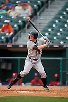 Indianapolis Indians center fielder Austin Meadows (13) bats during a game against the Buffalo Bisons on August 17, 2017 at Coca-Cola Field in Buffalo, New York.  Buffalo defeated Indianapolis 4-1.  (Mike Janes/Four Seam Images)