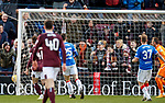 26.01.2020 Hearts v Rangers: Steven Naismith'sd shot beats Allan McGregor