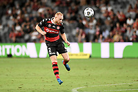 10th February 2021; Bankwest Stadium, Parramatta, New South Wales, Australia; A League Football, Western Sydney Wanderers versus Melbourne Victory; Ziggy Gordon of Western Sydney Wanderers heads back to the keeper