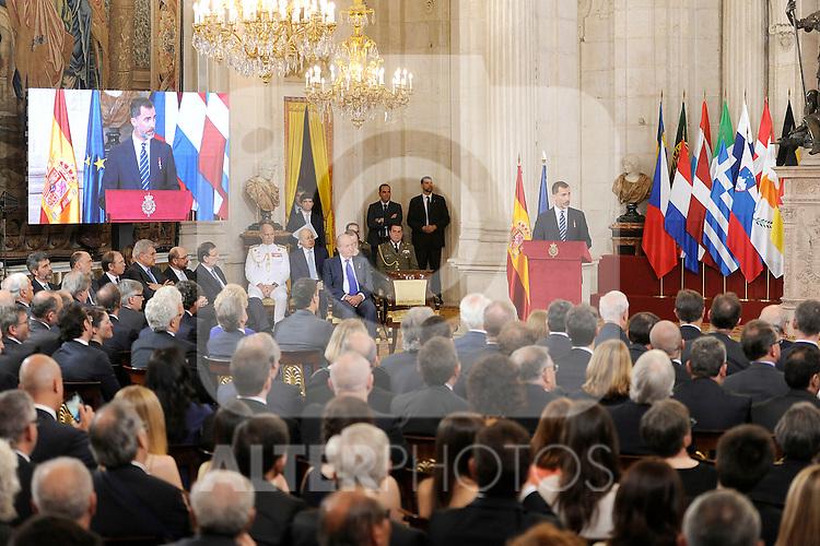 Spanish Vice President Soraya Saenz de Santamaria (C) attends the 30th Anniversary of Spain being part of European Communities. June 24, 2015.(ALTERPHOTOS/Pool)