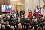 Spanish Vice President Soraya Saenz de Santamaria (C) attends the 30th Anniversary of Spain being part of European Communities. June 24, 2015.(ALTERPHOTOS/Pool)