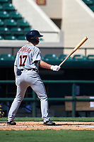 Detroit Tigers Daniel Cabrera (17) bats during a Florida Instructional League intrasquad game on October 17, 2020 at Joker Marchant Stadium in Lakeland, Florida.  (Mike Janes/Four Seam Images)