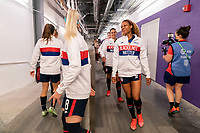 ORLANDO, FL - FEBRUARY 24: Casey Krueger #2 of the USWNT leaves the locker room before a game between Argentina and USWNT at Exploria Stadium on February 24, 2021 in Orlando, Florida.