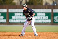 Charlotte 49ers shortstop Matt Creech (11) on defense against the Canisius Golden Griffins at Hayes Stadium on February 23, 2014 in Charlotte, North Carolina.  The Golden Griffins defeated the 49ers 10-1.  (Brian Westerholt/Four Seam Images)