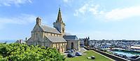 France, Manche (50), Cotentin, Granville, église Notre-Dame-du-Cap-Lihou dans la Ville Haute // France, Manche, Cotentin Peninsula, Granville, Notre Dame du Cap Lihou church