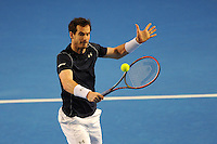 Andy Murray (GB), MARCH 05, 2016 - Tennis : Andy Murray (GB) in action during the Davis Cup by PNB Paribas , World Group first round between Great Britain and Japan at The Barclaycard Arena, Birmingham, United Kingdom. (Photo by Rob Munro/AFLO)