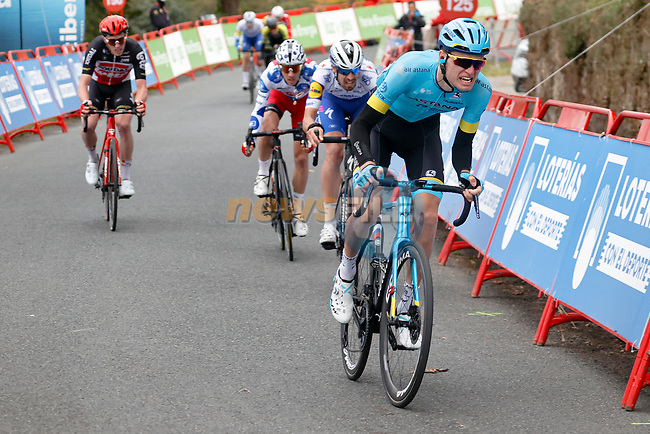 Aleksandr Vlasov (RUS) Astana Pro Team attacks out of the peloton near the end of Stage 14 of the Vuelta Espana 2020, running 204.7km from Lugo to Ourense, Spain. 4th November 2020. <br /> Picture: Luis Angel Gomez/PhotoSportGomez | Cyclefile<br /> <br /> All photos usage must carry mandatory copyright credit (© Cyclefile | Luis Angel Gomez/PhotoSportGomez)