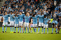 Kansas City, KS - Wednesday August 9, 2017: Sporting Kansas City during a Lamar Hunt U.S. Open Cup Semifinal match between Sporting Kansas City and the San Jose Earthquakes at Children's Mercy Park.