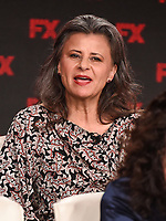 """PASADENA, CA - JANUARY 9: (L-R) Cast member Tracey Ullman attends the panel for """"Mrs. America"""" during the FX Networks presentation at the 2020 TCA Winter Press Tour at the Langham Huntington on January 9, 2020 in Pasadena, California. (Photo by Frank Micelotta/FX Networks/PictureGroup)"""