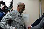 Actor and comedian BILL COSBY arrives for a December 30, 2015 arraignment hearing at Montgomery Country Court House in Elkins Park, Pennsylvania.