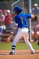 Seton Hall Pirates second baseman Rob Dadona (1) at bat during a game against the Ohio State Buckeyes on March 4, 2016 at North Charlotte Regional Park in Port Charlotte, Florida.  Ohio State defeated Seton Hall 9-3.  (Mike Janes/Four Seam Images)