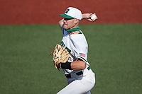 Charlotte 49ers starting pitcher Austin Marozas (26) in action against the Old Dominion Monarchs at Hayes Stadium on April 23, 2021 in Charlotte, North Carolina. (Brian Westerholt/Four Seam Images)