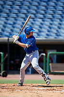 Toronto Blue Jays catcher Hagen Danner (26) at bat during a Florida Instructional League game against the Philadelphia Phillies on September 24, 2018 at Spectrum Field in Clearwater, Florida.  (Mike Janes/Four Seam Images)