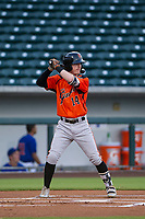 AZL Giants shortstop Tyler Brown (14) at bat against the AZL Cubs on July 17, 2017 at Sloan Park in Mesa, Arizona. AZL Giants defeated the AZL Cubs 12-7. (Zachary Lucy/Four Seam Images)
