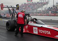 Apr 12, 2019; Baytown, TX, USA; NHRA top fuel driver Doug Kalitta during qualifying for the Springnationals at Houston Raceway Park. Mandatory Credit: Mark J. Rebilas-USA TODAY Sports