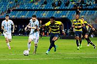 3rd July 2021, Estádio Olímpico Pedro Ludovico stadium, Goiânia, Brazil: Copa America Football tournament, Argentina versus Ecuador;   Lionel Messi of Argentina goes past Robert Arboleda of Ecuador