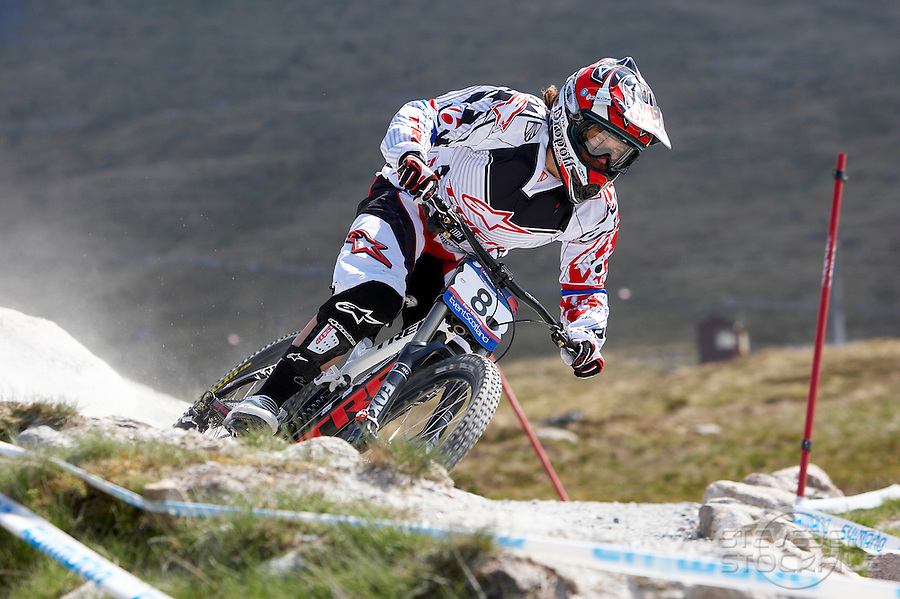 Tracy Moseley Trek..Fort William World Cup Downhill Mountain bike event June 2010..pic copyright Steve Behr / Stockfile