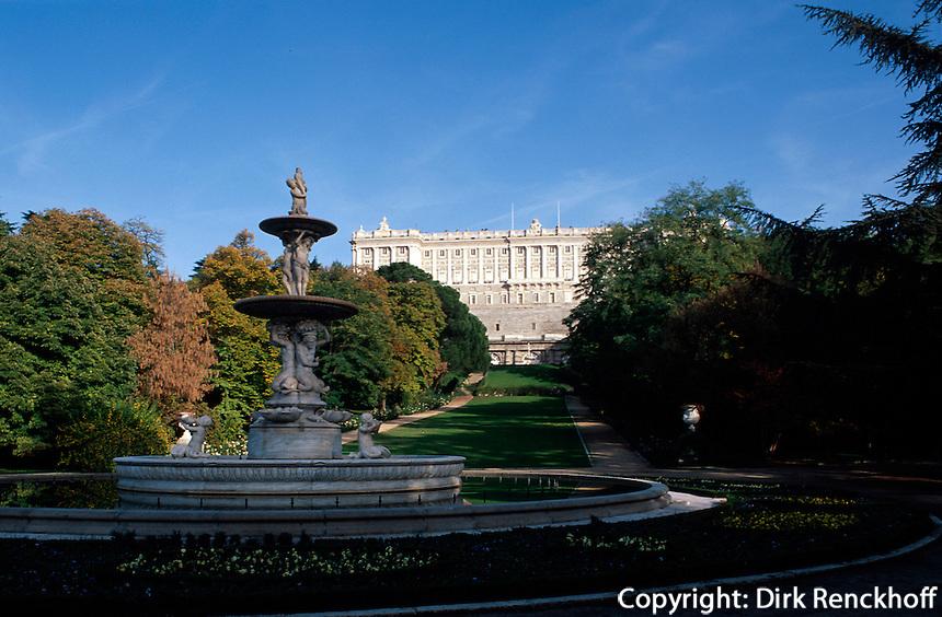 Spanien, Palacio Real (Königspalast) in Madrid, Park Campo del Moro