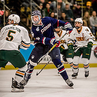 20 January 2017: University of Connecticut Husky Forward Tage Thompson, a Sophomore from Orange, CT, in first period action against the University of Vermont Catamounts at Gutterson Fieldhouse in Burlington, Vermont. The Huskies fell to the Catamounts 5-4 in the first game of their Home-and-Home Hockey East Series. Mandatory Credit: Ed Wolfstein Photo *** RAW (NEF) Image File Available ***