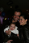 Guiding Light's Jessica Leccia and daughter Ivy and husband Brian at the 2009 Daytime Stars and Strikes to benefit the American Cancer Society on October 11, 2009 at the Port Authority Leisure Lanes, New York City, New York. (Photo by Sue Coflin/Max Photos)