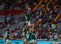5th June 2021; Brentford Community Stadium, London, England; Gallagher Premiership Rugby, London Irish versus Wasps; Albert Tuisue of London Irish catches the ball from a line out