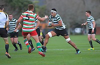 Action from the Wellington premier club rugby Swindale Shield match between Hutt Old Boys Marist and Old Boys University at Hutt Rec in lower Hutt, New Zealand on Saturday, 29 August 2020. Photo: Dave Lintott / lintottphoto.co.nz