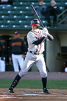 April 15th 2008:  Outfielder Josh Anderson (8) of the Richmond Braves, Class-AAA affiliate of the Atlanta Braves, during a game at Frontier Field in Rochester, NY.  Photo by:  Mike Janes/Four Seam Images
