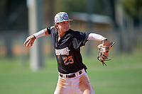 Deric Fabian (23) during the WWBA World Championship at Terry Park on October 8, 2020 in Fort Myers, Florida.  Deric Fabian, a resident of Ocala, Florida who attends North Marion High School, is committed to Florida.  (Mike Janes/Four Seam Images)