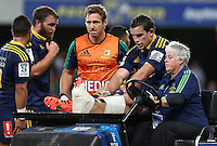 in the Super 15 rugby match, Forsyth Barr Stadium, Dunedin, New Zealand, Saturday, March 14, 2015. Credit: SNPA/Dianne Manson