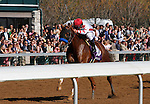 LEXINGTON, KY - APRIL 16: #10 collected and jockey Javier Castellano win the 35th running of The Lexington (Grade 3) $150,000 at Keeneland race course  for owner Speedway Stables (Peter Fluor) and trainer Bob Baffert.  April 16, 2016 in Lexington, Kentucky. (Photo by Candice Chavez/Eclipse Sportswire/Getty Images)
