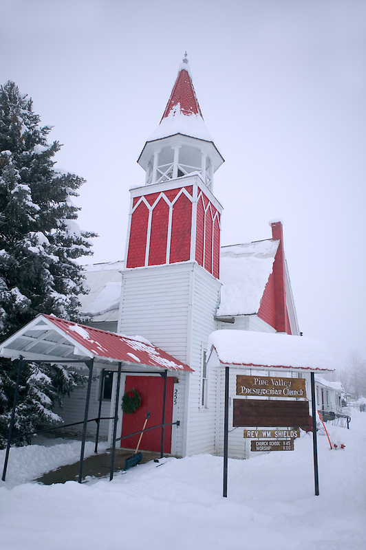 Pine Valley prebyterian church. Halfway, Oregon