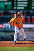 St. Lucie Mets starting pitcher Anthony Kay (19) delivers a pitch during a game against the Daytona Tortugas on August 3, 2018 at First Data Field in Port St. Lucie, Florida.  Daytona defeated St. Lucie 3-2.  (Mike Janes/Four Seam Images)